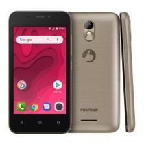 "Smartphone Positivo Twist Mini S431 8GB Quad-Core 3G Dual Chip Android Oreo 4"" - Dourado -"