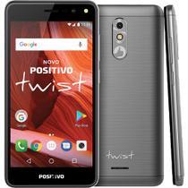 "Smartphone Positivo Twist S511 16GB Dual Chip Tela 5"" 3G WiFi Câmera 8MP S511 Cinza -"