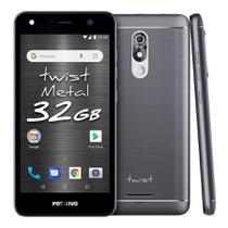 "Smartphone Positivo Twist S531 32GB Quad Core 3G Dual Chip Android 8.0 8MP 5.2"" - Cinza -"