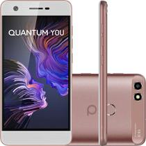 Smartphone Quantum You 32GB 3GB RAM Tela HD 5.0 Câmera 13MP - Rosa