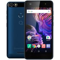 Smartphone Quantum YOU 4G 32GB Azul QuadCore 3GB RAM Duas Câmeras 13MP Tela HD 5