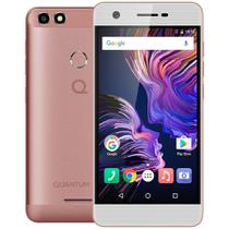 Smartphone Quantum YOU 4G 32GB Rosa QuadCore 3GB RAM Duas Câmeras 13MP Tela HD 5 Android 7