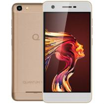 Smartphone Quantum YOU L 4G 32G Dourado Quad-Core 2GB RAM Câmeras 13MP e 8MP Tela HD 5