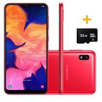 Smartphone Samsung A105 Galaxy A10 Vermelho 32GB + Cartão de Memória 32GB -