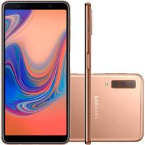 Smartphone / Samsung / A7 / Tela de 6 / Dual Sim / 64GB - Dourado -