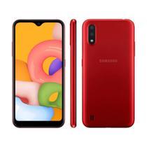 """Smartphone Samsung Galaxy A01, 32GB, 13MP, Tela 5.7"""" Android 10 Vermelho SM-A10M/DS - Samsung -"""