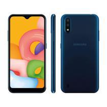 """Smartphone Samsung Galaxy A01 32GB 2GB RAM Câmera Dupla 13MP Tela 5.7"""" - Azul -"""