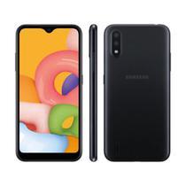 "Smartphone Samsung Galaxy A01 32GB 2GB RAM Câmera Dupla 13MP Tela 5.7"" - Preto -"