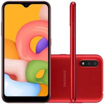 Smartphone Samsung Galaxy A01, 32GB, 2GB RAM, Tela Infinita de 5.7 - Samsumg