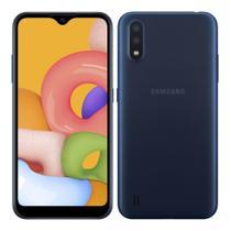 Smartphone Samsung Galaxy A01 32GB Azul Octa-Core - 2GB RAM Tela 5,7 Câm. Dupla + Câm. Selfie 5MP -