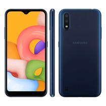 "Smartphone Samsung Galaxy A01 32GB Dual Chip Android Tela Infinita de 5.7"" Octa-Core 2GB RAM Câmera Dupla Traseira 13MP + 2MP - Azul -"