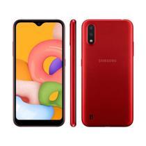 """Smartphone Samsung Galaxy A01 32GB Dual Chip Android Tela Infinita de 5.7"""" Octa-Core 2GB RAM Câmera Dupla Traseira 13MP + 2MP - Vermelho -"""