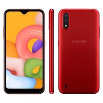 Smartphone Samsung Galaxy A01 32GB Duas câmeras 13MP + 6MP -