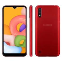 Smartphone Samsung Galaxy A01 32GB Tela 5.7 Câmera Dupla Android 10 Dual Chip -