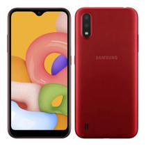 Smartphone Samsung Galaxy A01 32GB Vermelho - 2GB RAM Tela 5,7 Câm. Dupla + Câm. Selfie 5MP -