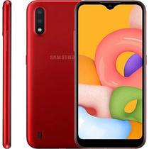 """Smartphone Samsung Galaxy A01, 5,7"""", 32 GB, Câmera Dupla, Vermelho -"""