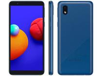 "Smartphone Samsung Galaxy A01 Core 32GB - Azul, 4G, Câmera 8MP + Selfie 5MP, QuadCore, RAM 2GB, Tela 5.3"" -"
