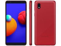 """Smartphone Samsung Galaxy A01 Core 32GB - Vermelho, 4G, Câmera 8MP + Selfie 5MP, QuadCore, RAM 2GB, Tela 5.3"""" -"""