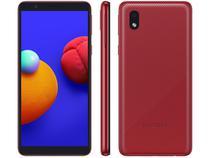 "Smartphone Samsung Galaxy A01 Core 32GB Vermelho - 4G Quad-Core 2GB RAM 5,3"" Câm. 8MP + Selfie 5MP"