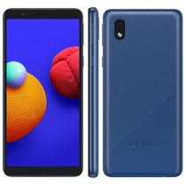 """Smartphone Samsung Galaxy A01 Core Azul 32GB, Tela Infinita de 5.3"""" Câmera Traseira 8MP Android GO 10.0, Dual Chip e Processador Quad-Core -"""