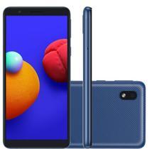 Smartphone Samsung Galaxy A01 Core Azul 32GB, Tela Infinita de 5.3 Câmera Traseira 8MP Android GO 10.0, Dual Chip e Processador Quad-Core -