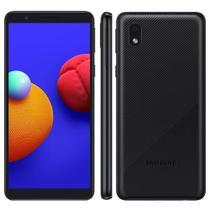 """Smartphone Samsung Galaxy A01 Core Preto 32GB, Tela Infinita de 5.3"""" Câmera Traseira 8MP Android GO 10.0, Dual Chip e Processador Quad-Core -"""