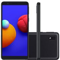 Smartphone Samsung Galaxy A01 Core Preto 32GB, Tela Infinita de 5.3 Câmera Traseira 8MP Android GO 10.0, Dual Chip e Processador Quad-Core -