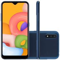 Smartphone samsung galaxy a01 duos azul- 32gb tela 5.7 -