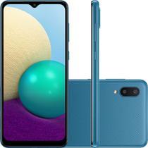 Smartphone Samsung Galaxy A02 32GB 4G Wi-Fi Tela 6.5'' Dual Chip 2GB RAM Câmera Dupla - Azul -