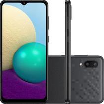 Smartphone Samsung Galaxy A02 32GB 4G Wi-Fi Tela 6.5   Dual Chip 2GB RAM Câmera Dupla - Preto -