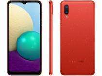 """Smartphone Samsung Galaxy A02 32GB Vermelho 4G - Quad-Core 2GB RAM 6,5"""" Câm. Dupla + Selfie 5MP"""