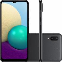 "Smartphone Samsung Galaxy A02 Dual Chip Android 10 Tela 6.5"" 32GB Câmera 13MP + 2MP Frontal 5MP  Preto -"