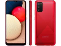 "Smartphone Samsung Galaxy A02s 32GB Vermelho 4G - Octa-Core 3GB RAM 6,5"" Câm. Tripla + Selfie 5MP"
