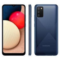 Smartphone Samsung Galaxy A02s Azul 32GB Câmera Tripla Traseira de 13MP SM-A025 -