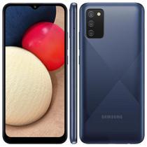 """Smartphone Samsung Galaxy A02s Azul 32GB, Tela Infinita de 6.5"""", Câmera Tripla, bateria 5000mAh, 3GB RAM e Processador Octa-Core -"""