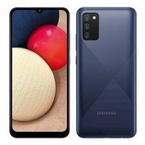 """Smartphone Samsung Galaxy A02S Azul, Tela 6.5"""", 4G+Wi-Fi, And. 10, Câm. Tras. de 13+2+2, Frontal de 5MP, 3GB RAM, 32GB -"""