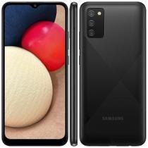 """Smartphone Samsung Galaxy A02s Preto 32GB, Tela Infinita de 6.5"""", Câmera Tripla, bateria 5000mAh, 3GB RAM e Processador Octa-Core -"""