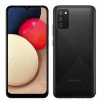 """Smartphone Samsung Galaxy A02S Preto, Tela 6.5"""", 4G+Wi-Fi, And. 10, Câm. Tras. de 13+2+2, Frontal de 5MP, 3GB RAM, 32GB -"""