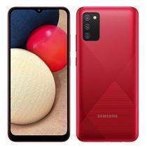 """Smartphone Samsung Galaxy A02S Vermelho, Tela 6.5"""", 4G+Wi-Fi, And. 10, Câm. Tras. de 13+2+2, Frontal de 5MP, 3GB RAM, 32GB -"""