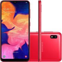 Smartphone Samsung Galaxy A10 32GB 4G Tela 6.2 Câmera Traseira 13MP - Vermelho -