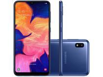 "Smartphone Samsung Galaxy A10 32GB Azul 4G - 2GB RAM 6,2"" Câm. 13MP + Câm. Selfie 5MP"