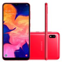 "Smartphone Samsung Galaxy A10 32GB Dual Chip 4G Tela 6,2"" Câmera 13MP Frontal 5MP Android 9.0 Vermelho -"