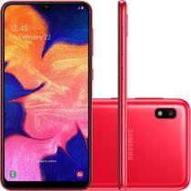 """Smartphone Samsung Galaxy A10 32GB Dual Chip Android 9.0 Tela 6.2"""" Octa-Core 4G Câmera 13MP-Vermelho -"""