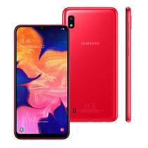 "Smartphone Samsung Galaxy A10 32GB Vermelho 4G - 2GB RAM 6,2"" Câm. 13MP + Câm. Selfie 5MP -"