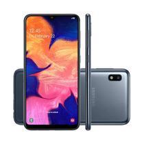 "Smartphone Samsung Galaxy A10 Preto Tela Infinita 6,2"" 32 GB Câmera Traseira 13MP + Frontal 5MP -"