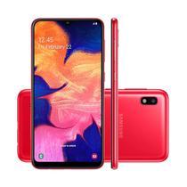 """Smartphone Samsung Galaxy A10 Vermelho Tela Infinita 6,2"""" 32 GB Câmera Traseira 13MP + Frontal 5MP -"""