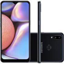 "Smartphone Samsung Galaxy A10s 32GB 6.2"" 2GB RAM Câmera Traseira Dupla 13MP 2MP Preto -"