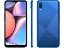 "Smartphone Samsung Galaxy A10s 32GB Azul Absurdo - 4G 2GB RAM Tela 6,2"" Câm. Dupla + Selfie 8MP"