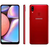 "Smartphone Samsung Galaxy A10s 32GB Vermelho - 4G 2GB RAM 6,2"" Câm. Dupla + Selfie 8MP"
