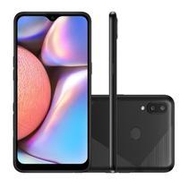 "Smartphone Samsung Galaxy A10s Tela 6.2"" Dual Chip 32GB Android Octa-Core 4G RAM Câmera Dupla + Selfie 8MP - Preto Absurdo -"